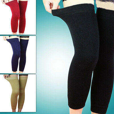 Practical Wool Thermal Knee Leg Warmer Long Socks Elasticated Kneepad Legging IO