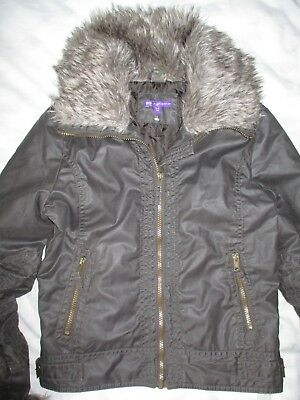 M&S Marks&Spencer Faux Fur Collar Autumn Brown Coat Jacket Age 11-12 Years