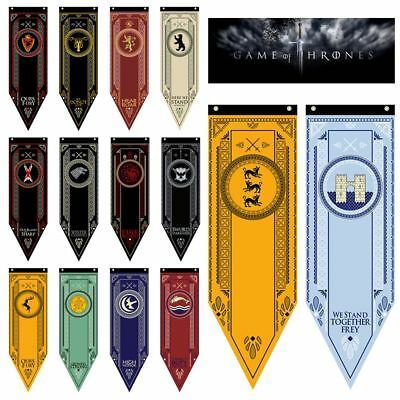 Game of Thrones Stark Targaryen Greyjoy Lannister House Hanging Flags Banner