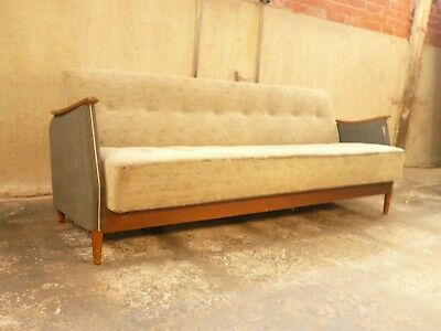 SB111 - Sofa Bed Day Bed Mid-Century Danish Modern Studio Couch Vintage Retro