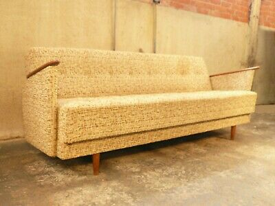 SB113 - Sofa Bed Day Bed Mid-Century Danish Modern Studio Couch Vintage Retro