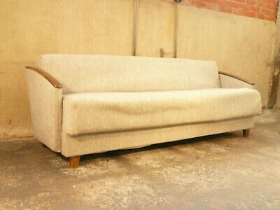 SB114 - Sofa Bed Day Bed Mid-Century Danish Modern Studio Couch Vintage Retro
