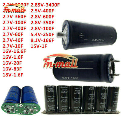 1-3400F 2.7-16V Farad Capacitor Super Capacitor With Protection Board Module Set