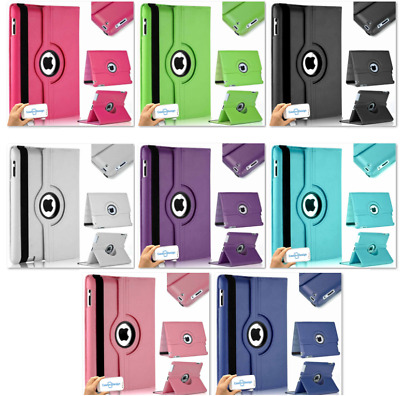 360 Degree Smart Apple iPad case cover with Stand pu Leather All Models from UK