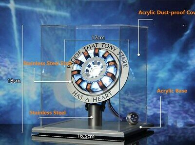 Iron Man Tony Stark Heart Arc Reactor MKⅡLED USB DIY Model Material Movie Prop