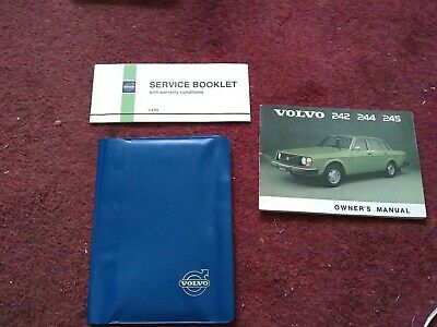 Volvo 242 244 245 Owners Manual Service Booklet And Folder