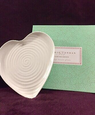 "Sophie Conran For Portmeirion Large Heart Plate. White 10.5""x11"" New & Boxed"