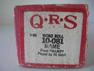 MAME - QRS Player Piano Roll 10-081  NO DAMAGE