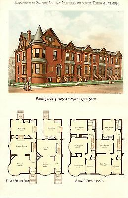 Brick Dwellings  -  Scientific American Architects and Builders Edition  - 1891