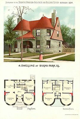 Buena Park, Ill   - Scientific American Architects and Builders Edition - 1894