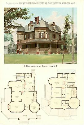 Plainfield, N. J.  -  Scientific American Architects and Builders Edition - 1892