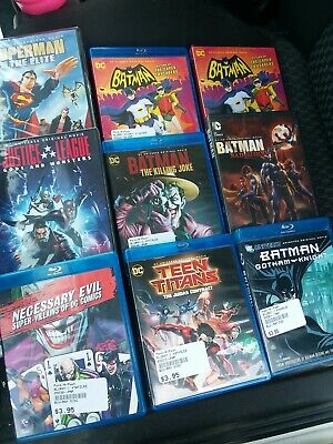 Lot Of 9 DC Animated Movies BluRay DVD Some NIP Superman Batman Justice League