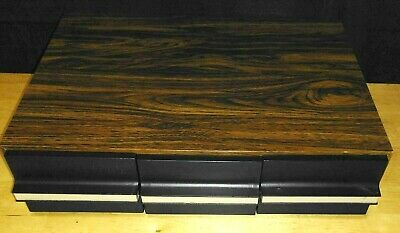 faux Wood Vintage 3-drawer Audio Cassette Tale Storage Deck Storage & Media Accessories