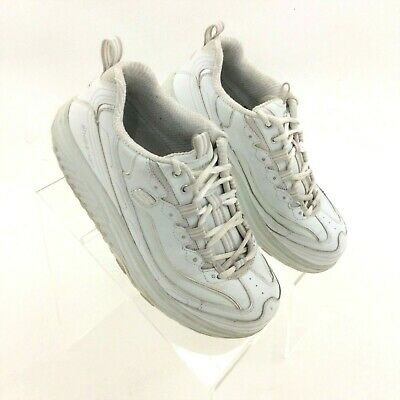 Details about SKECHERS Shape Up Toners SN 11800 WhiteCream Leather Women's Shoe Size: 8