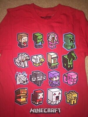 MINECRAFT video Game mini MOBS charged New BOY'S Youth T-Shirt