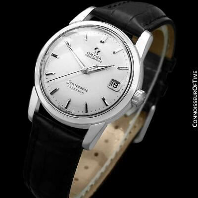 1957 OMEGA SEAMASTER Vintage Mens Cal. 503 SS Steel Watch - Mint with Warranty