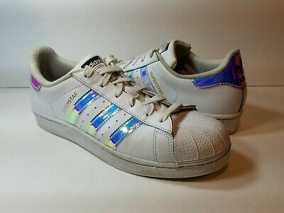 huge selection of e2738 c9669 Adidas Superstar J White Hologram Iridescent GS   PS AQ6278 Youth Women -  Size 7