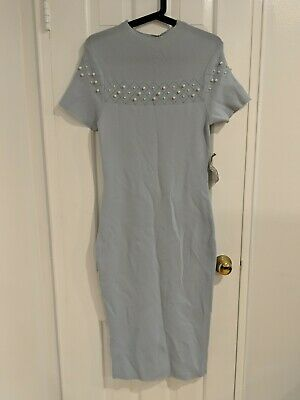 f7b9350a93b Brand New With Tags Eva Mendes New York   Company Beaded Sweater Dress Small