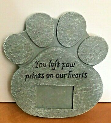 Pet Memorial Plaque  Engraved resin Stone for pets WITH PHOTO MOUNT
