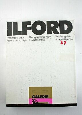 "195223 Ilford Galerie  8x10"" Grade 2 Glossy B&W Photo Paper 37 *EXPIRED* Sheets"