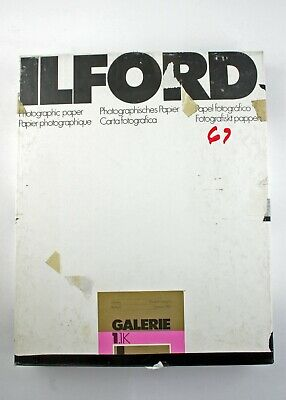 "195224 Ilford Galerie  8x10"" Grade 1 Glossy B&W Photo Paper 67 *EXPIRED* Sheets"