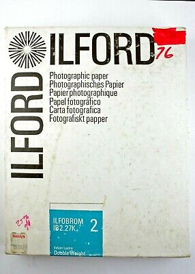 "195226 Ilford Ilfobrom 8x10"" Grade 2 Luster B&W Photo Paper 76 *EXPIRED* Sheets"