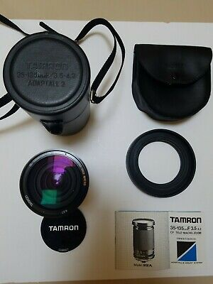 Tamron 35-135Mm F/3.5-4.2 Cf Tele Macro Zoom Camera Lens New Old Stock.