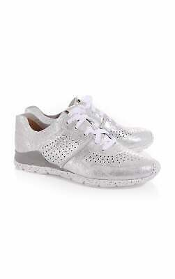 8bea69a8b1e UGG TYE SILVER Stardust Perf Leather Sneakers Tennis Shoes Size Us 5 Womens