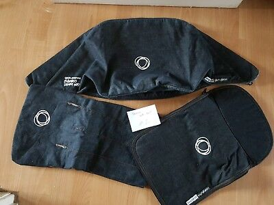 bugaboo cameleon 1 and 2 denim fabric set hood, apron and seat cover