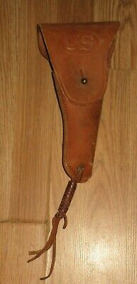 Vintage Us Army Leather Pistol Holster Sears 1942- Colt 1911?