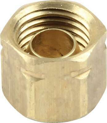 Compression End Cap 3/16 in ID Brass Natural 3/16 in Compression Fittings Each