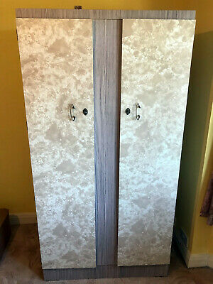 Melamine 1960s Retro Double Wardrobe