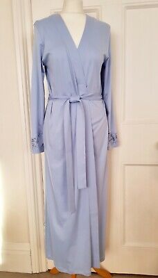 New Hanro Cotton Wrap Robe Aurelia Robe RRP £ 194.00