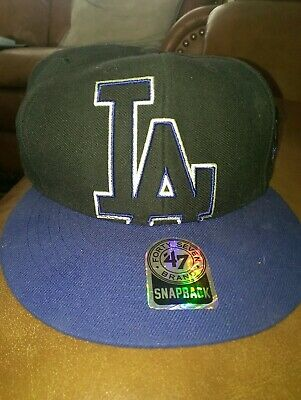 Los Angeles Dodgers Cap Hat One Size  Black Blue New!! Snap back.