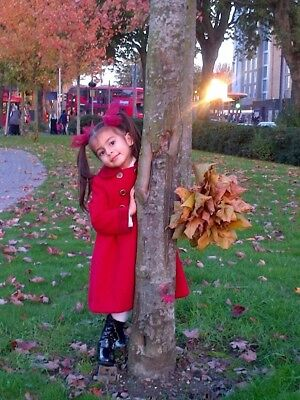 Mothercare Girls Traditional Red Coat Age 2-3 yrs