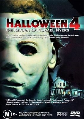 Halloween 4 : The Return Of Michael Myers : NEW DVD : Rare Old Aus Stock :