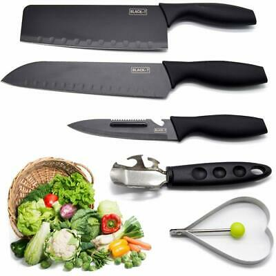 Chef Knife Set Knives Kitchen Knife Sharpener Stainless Steel Cutlery-5PCS