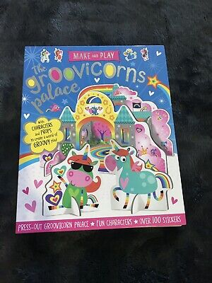 Unicorn Craft Book | Groovicorn Palace Over 100 Stickers And Pop Out DIY Castle