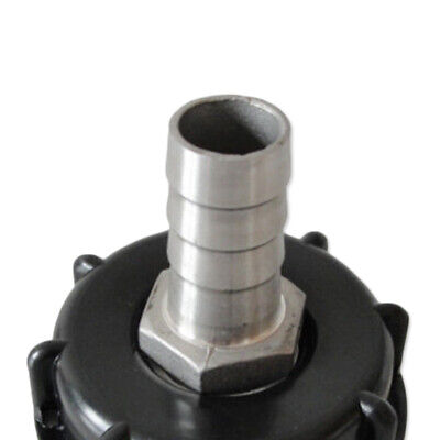Adapter S60X6 to 1'' Oil Fuel Water Fitting Plastic 60mm coarse thread 25mm IBC