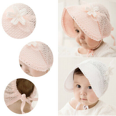 Cute Toddlers Baby Girls Flower Princess Sun Hat Cap Summer Cotton Hat Bonnet AU