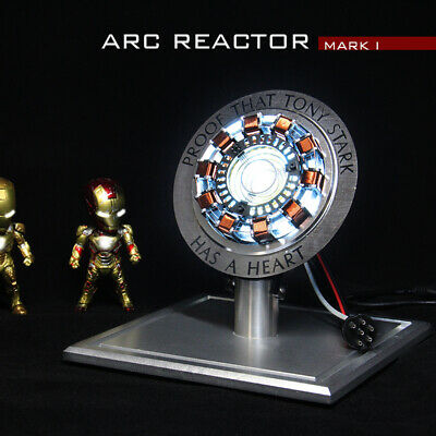 Iron Man Arc Reactor MKⅠTony Stark Heart LED USB DIY Model Material Movie Prop