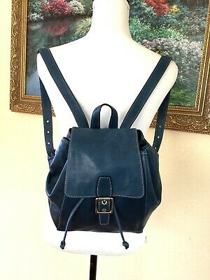 b46051de4 VTG Coach Legacy French Blue Leather Daypack small Backpack Purse Bag #9569