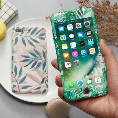 Hybrid 360°Shockproof Art Glossy Hard Case Cover For Apple iPhone X 7 8 Plus 6