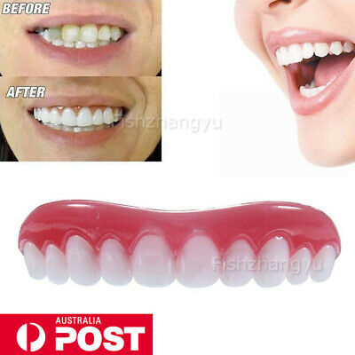 New Comfort Fit Flex False Dentures Teeth Veneers Cosmetic Dental Kit
