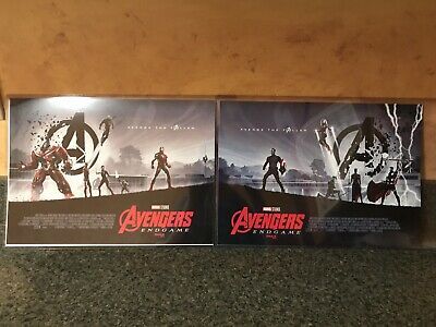 AVENGERS ENDGAME AMC IMAX EXCLUSIVE POSTER 11 x 15.5 Week 1 & 2 & Captain Marvel