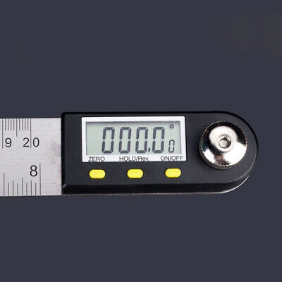 2-in-1 Digital Angle Finder Meter Protractor Stainless Steel 360° Ruler 200mm 8