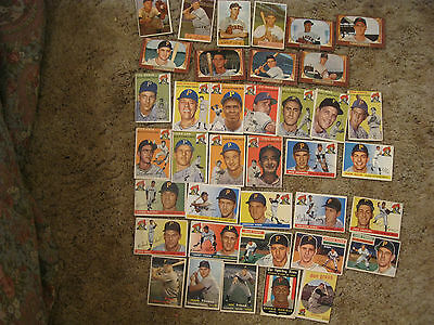 Pittsburgh Pirates Cards  1953-1959   40 cards  Bowman and Topps