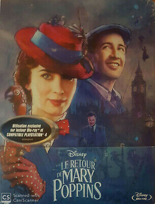 Le Retour De Mary Poppins Steelbook Blu Ray Disney  Neuf Sous Cellophane