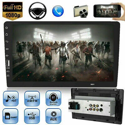 1 DIN 9'' HD Touch Screen Car Stereo MP5 Player Bluetooth FM Radio AUX-IN