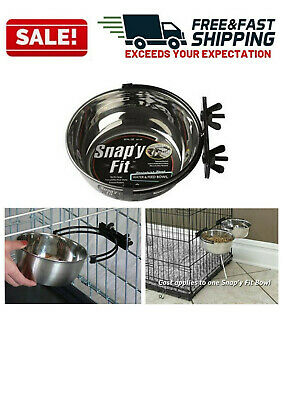 Stainless Steel Dog Food Bowl Pet Cat Animal Standard Crate Drink Water Dish